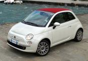 FIAT 500 Cabrio 1.2 8V 69 ch Lounge Mint Green avec options