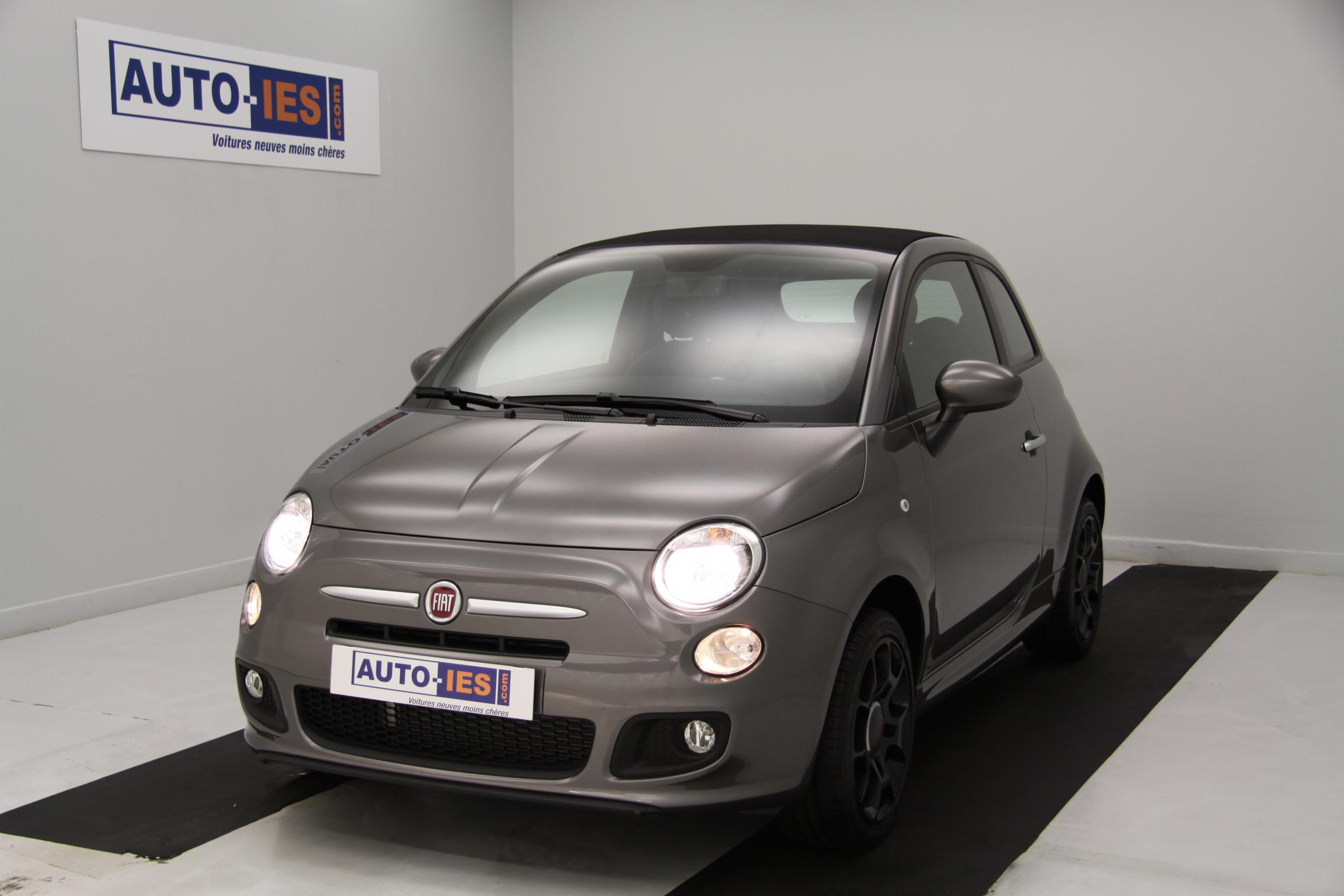 fiat 500 cabrio 1 2 8v 69 ch lounge electroclash grey capote noire pack sport s rie 3 avec. Black Bedroom Furniture Sets. Home Design Ideas
