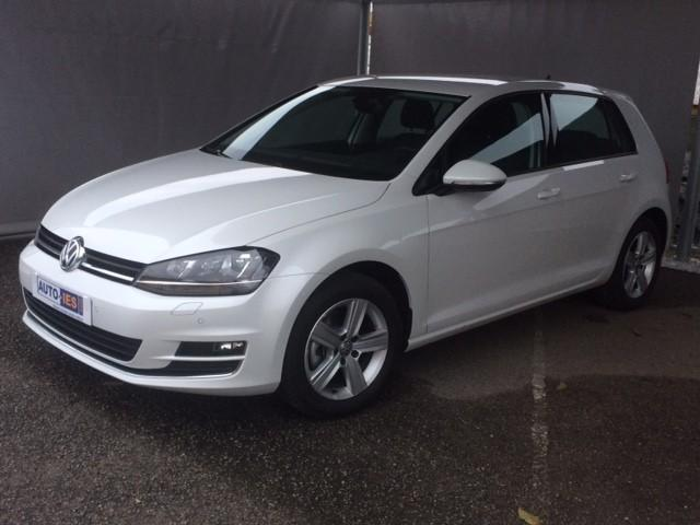 VOLKSWAGEN Golf VII 1.4 TSI 150 ACT BlueMotion Technology Confortline DSG7 Blanc Oryx+Discover Media-Occasion 3000 kms avec options